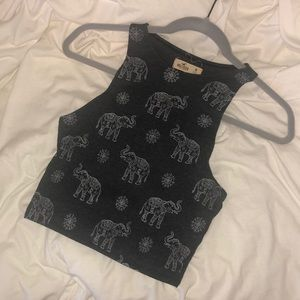 Hollister Elephant Crop Top